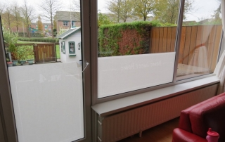 how to apply frosted window film