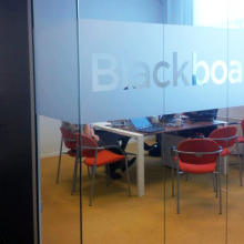 frosted window film (1), conference room, privacy