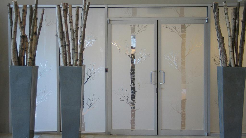 Design custom frosted window film (cut)