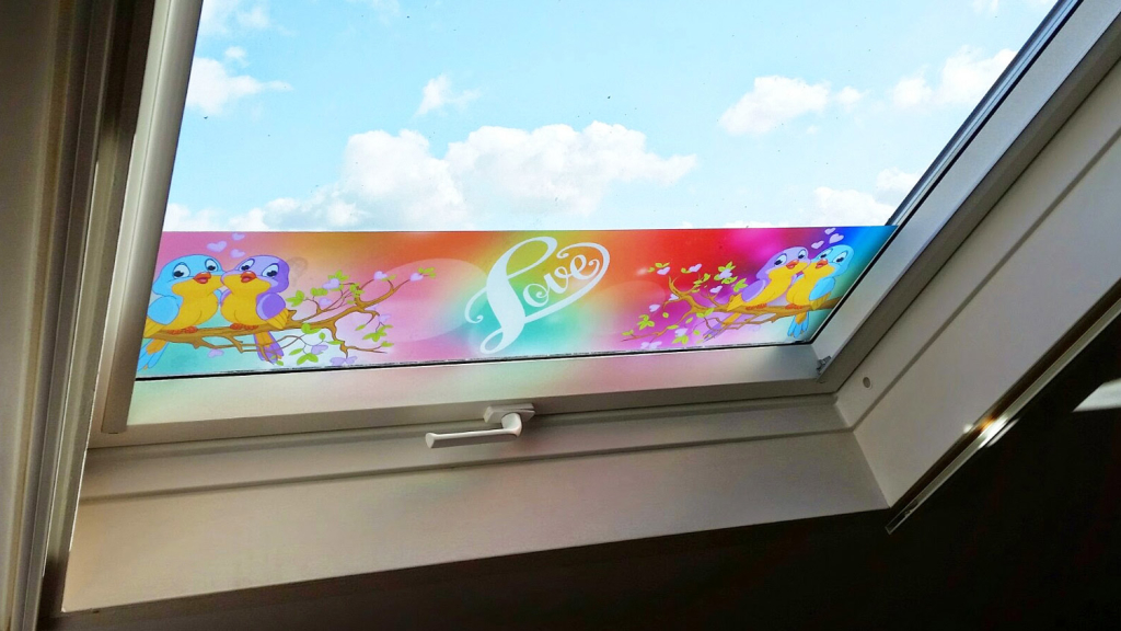printed frosted window film, nursery, childrens bedrooms