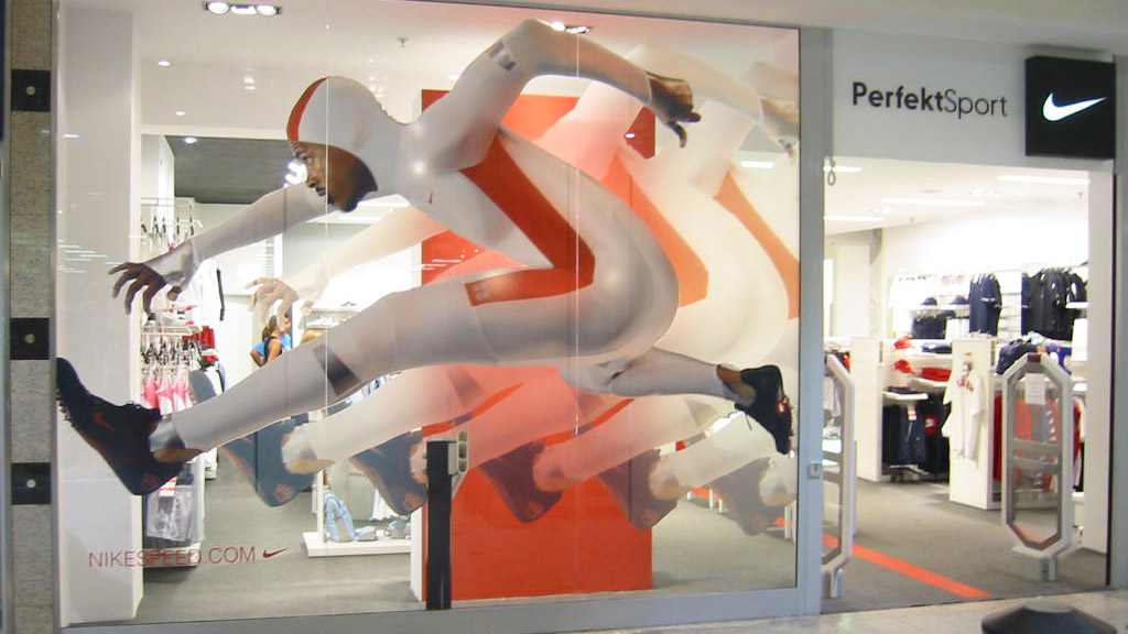 Printed frosted window film, shop, store front