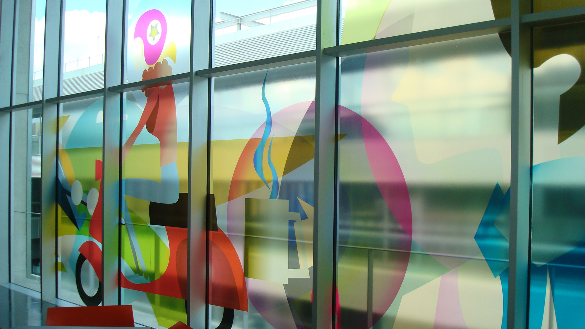 printed, transparent, window film