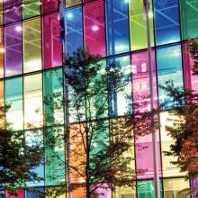 Transparent window film, large, multiple colors