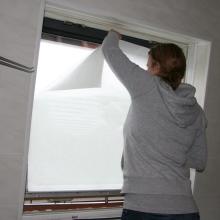 Frosted window film (1) bathroom, application