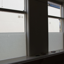 Frosted window film (1) Applying window film