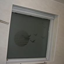 Frosted window film (1) bathroom, both sides