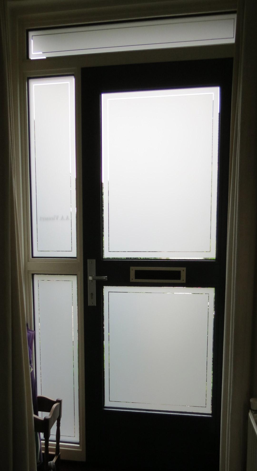 1980 #1E1C15 Permalink Frosted Widow Film Front Door Fp Frosted Window Film image Front Doors With Frosted Glass 38731080