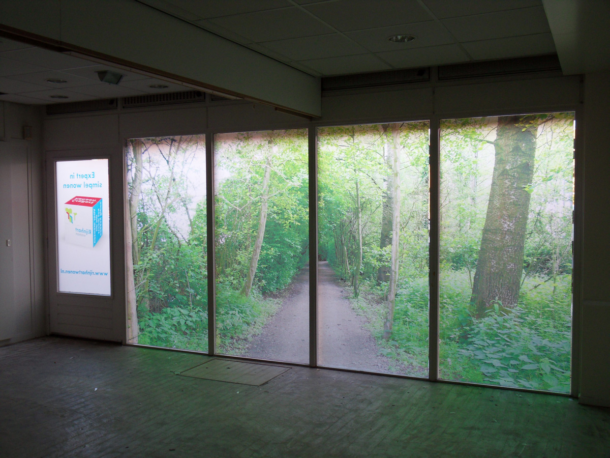 Frosted window film (2) printed, store, privacy