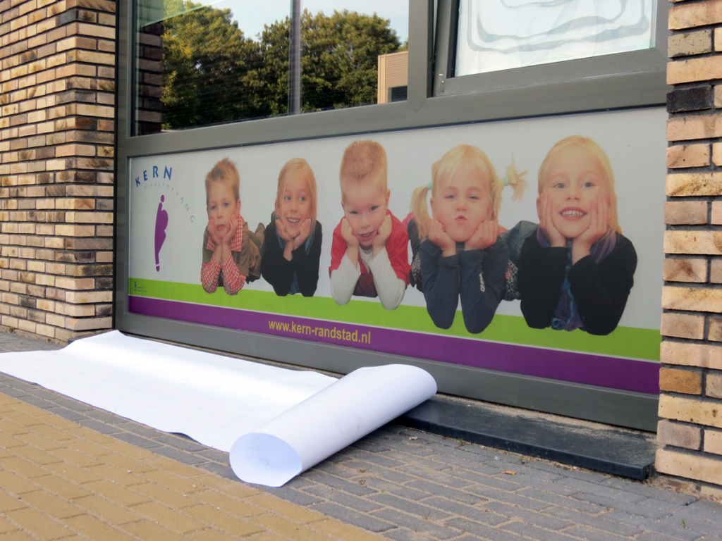 Printed frosted window film (2) Corporate identity