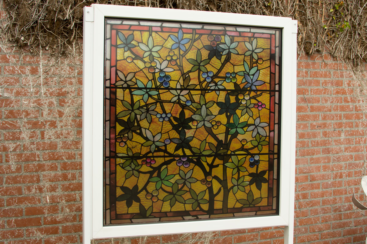 Stained glass window film pond decorative window film for Victorian stained glass window film