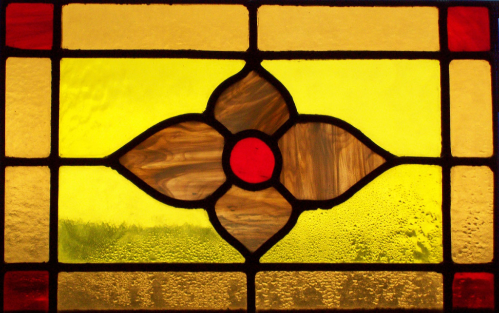 Window Film Stained Glass Flower Yellow