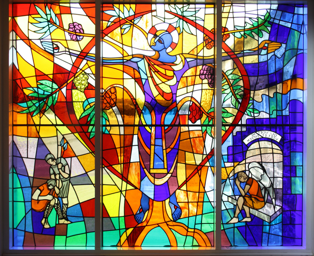Window Film Stained Glass Jesus
