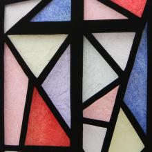 Window film, stained glass, modern