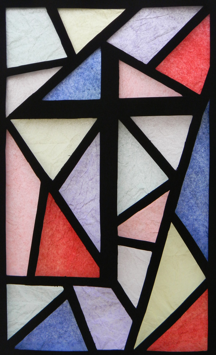 Window film, stained glass, modern
