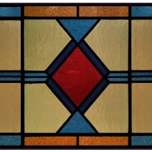 Stained glass window film, yellow, pattern