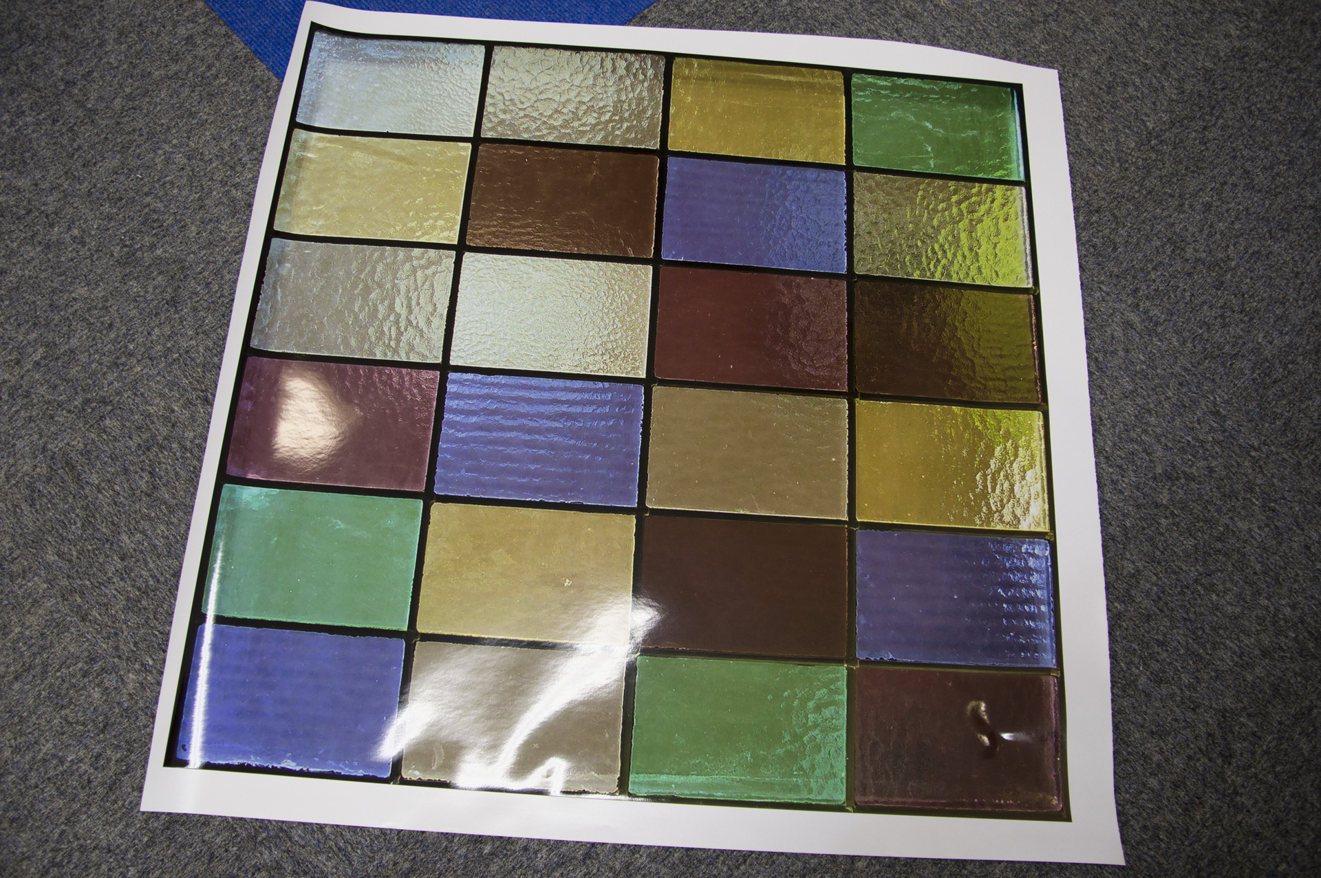 Transparent window film (3) stained glass, custom design