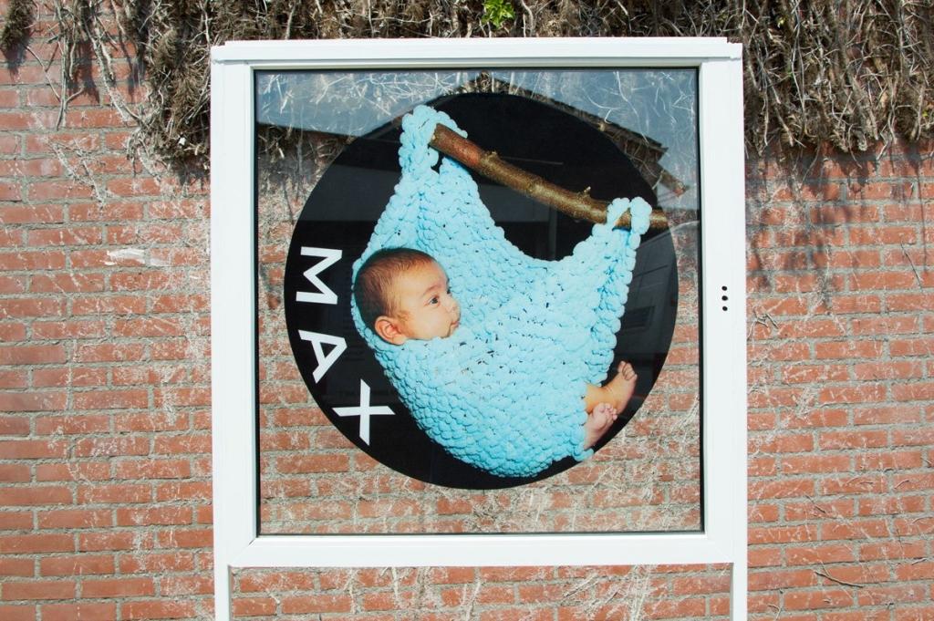 Window Cling (4) custom print, birth