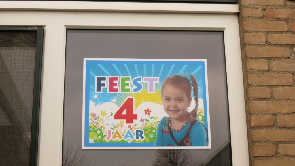 Window Cling (4) custom print, birthday