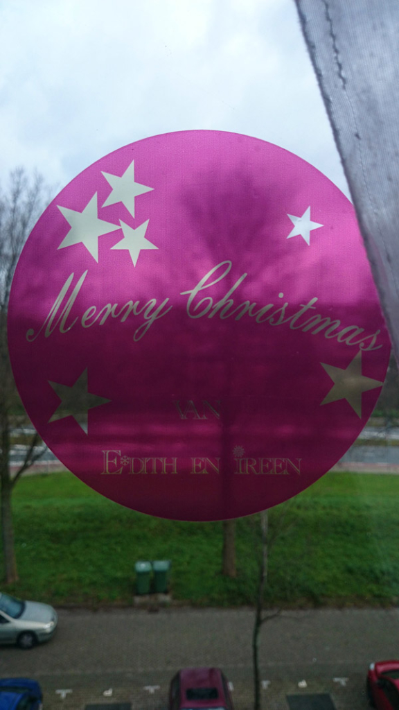 Window Cling (4) Merry Christmas