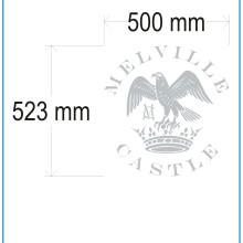 Frosted window film (1) cut, cut-to-shape, logo, design