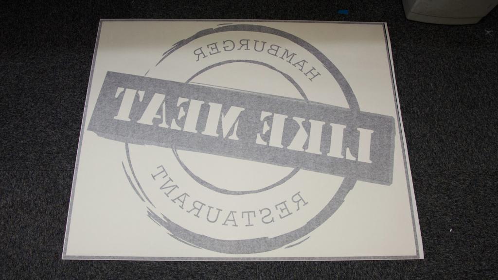 Window Decal (5) logo, restaurant, black