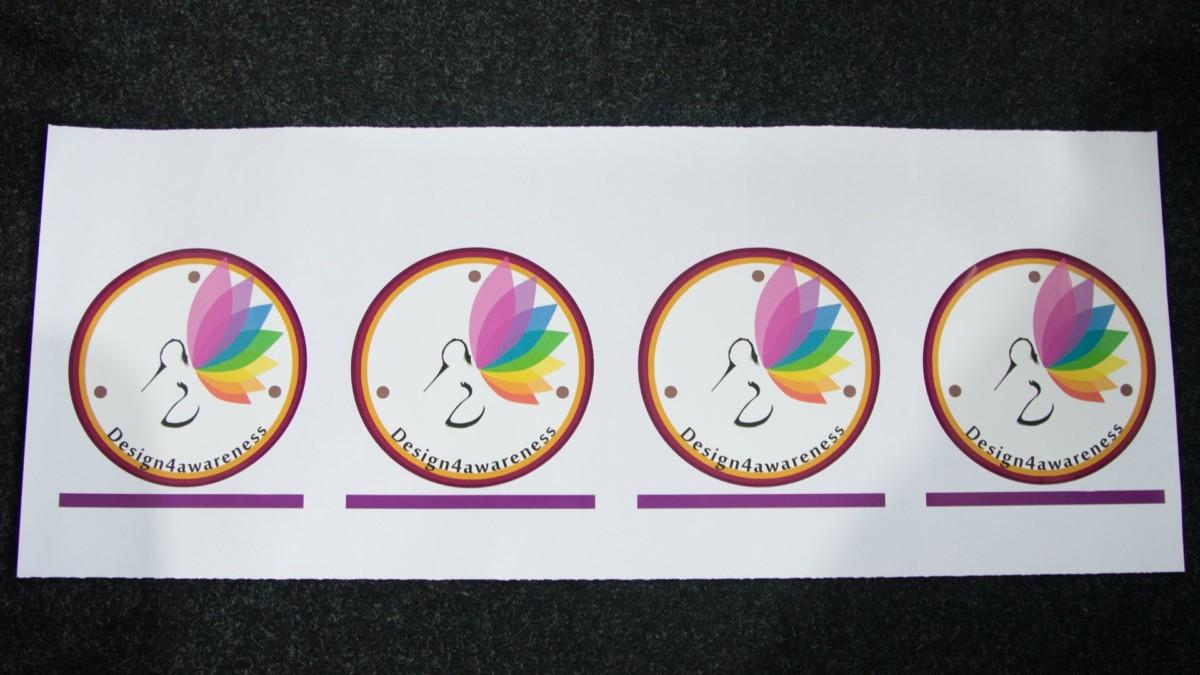 window sticker (6) logo, small, cut to shape