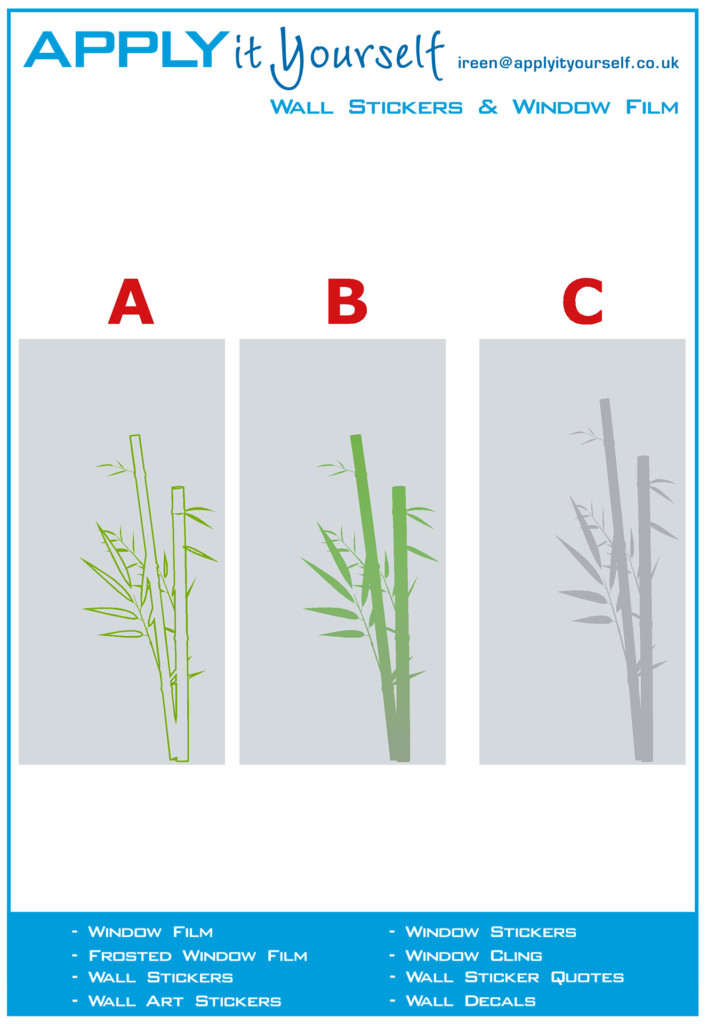 frosted window film, bamboo, print, one design, multiple possibilities, 2012-000483