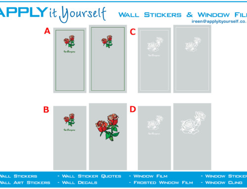 frosted window film, flower, rose, cut, print, 2012-000585