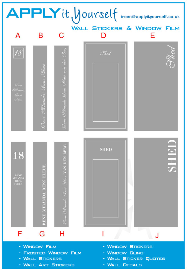 frosted window film, name, border, street number. cut, 2012-000052