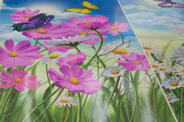 one-way vision window film, custom, flowers, closeup