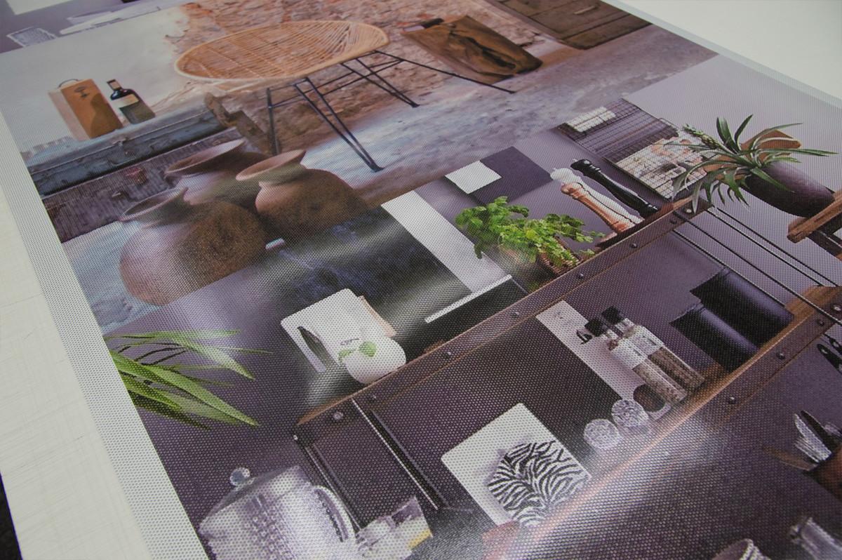 one-way vision window film, custom, large, with print
