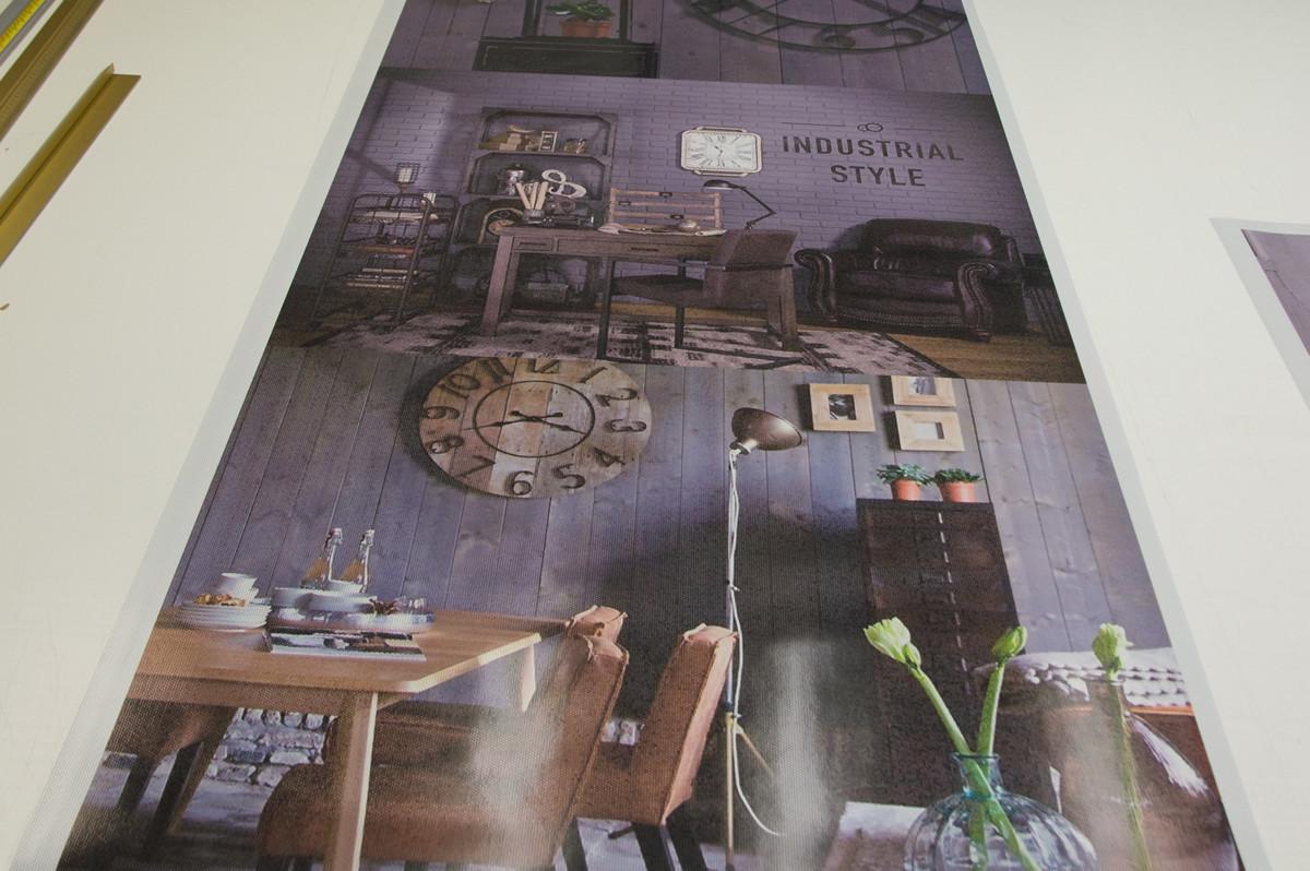 one-way vision window film, custom, large, with print, brand identity