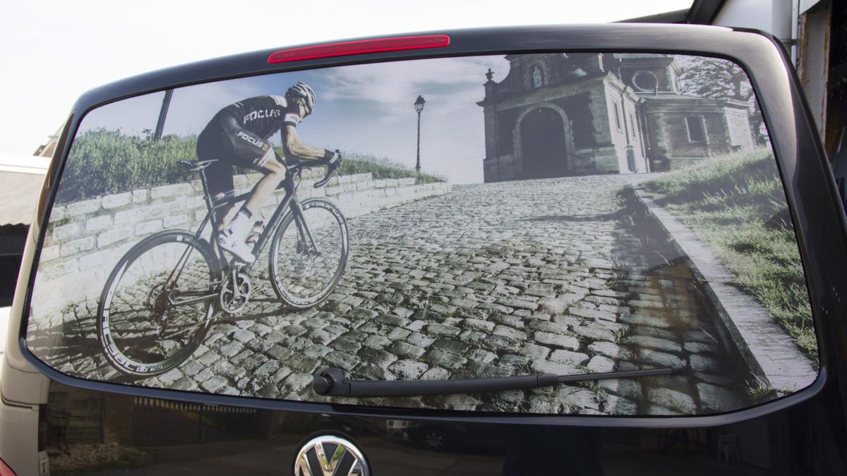 one way vision window film, perforated window film, car back window