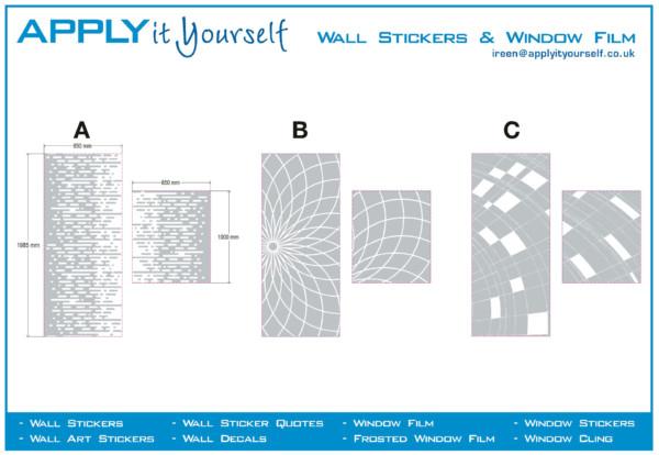 frosted window film, custom, cut, abstract, pattern, door, window