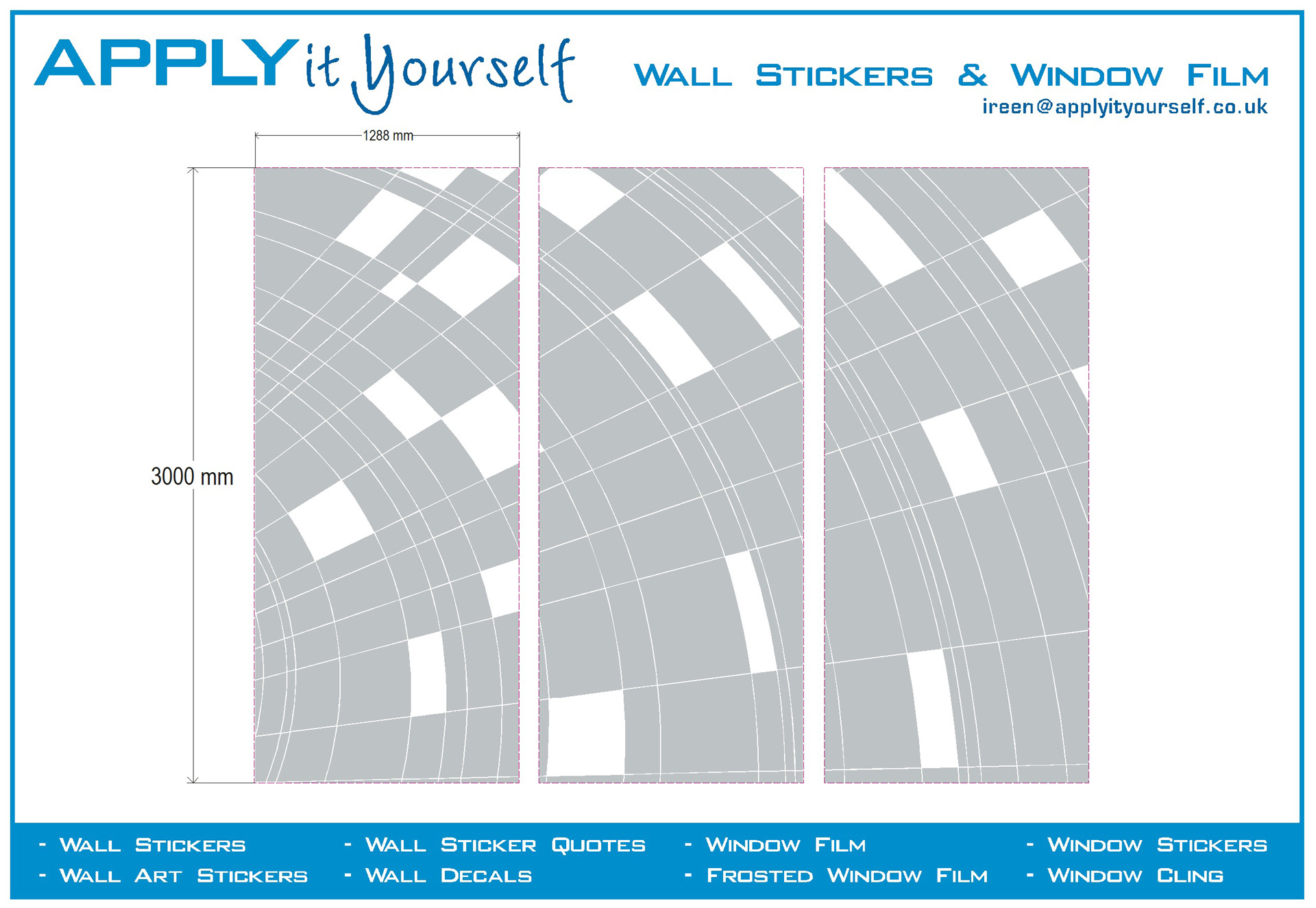 Instructions applyityourself frosted window film custom cut abstract pattern glass wall amipublicfo Image collections