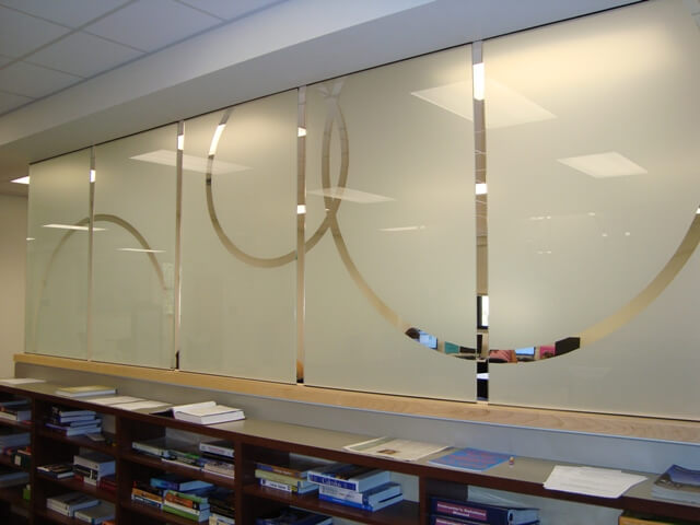 Frosted window film cut (1), bespoke, frosted, film, with, lines