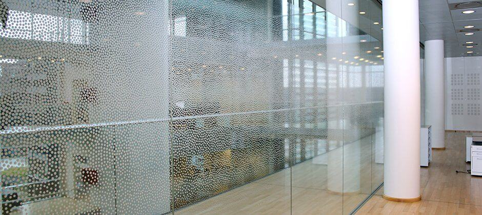 Frosted window film cut (1), bespoke, frosted, window, film, random, dots