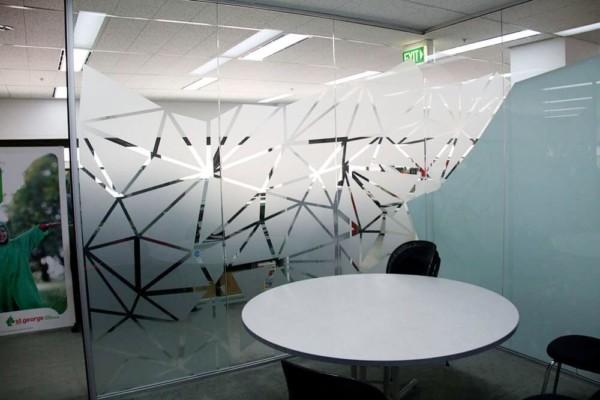 Frosted window film cut (1), conference, room, privacy, custom, frosted, window, film