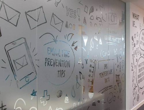 Frosted window film cut (1), custom, design, pictograms, and, texts, on frosted, window, film