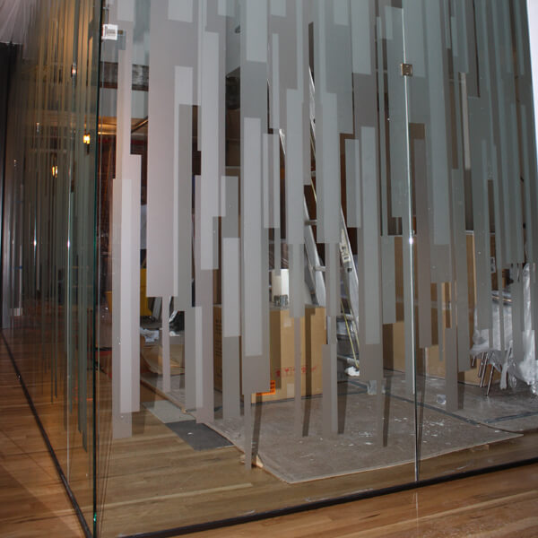 Frosted window film cut (1), custom, frosted, film, on, both, sides, of, the, glass