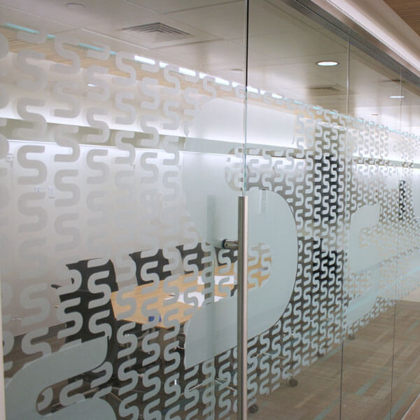 Frosted window film cut (1), custom, frosted, window, film, with, logo