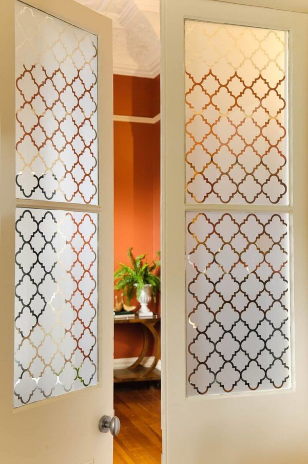 Frosted window film cut (1), custom, pattern, french, doors, window, film, frosted