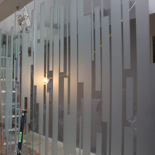 Frosted window film cut (1), custom, stripe, design, frosted, window, film