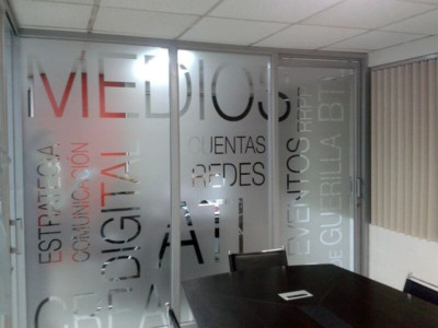 Frosted window film cut (1), custom, texts, frosted, window, film, privacy, office, room