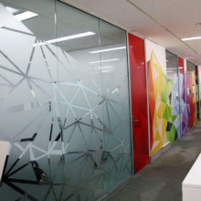 Frosted window film cut (1), custom, window, film, for, the, office, frosted, design
