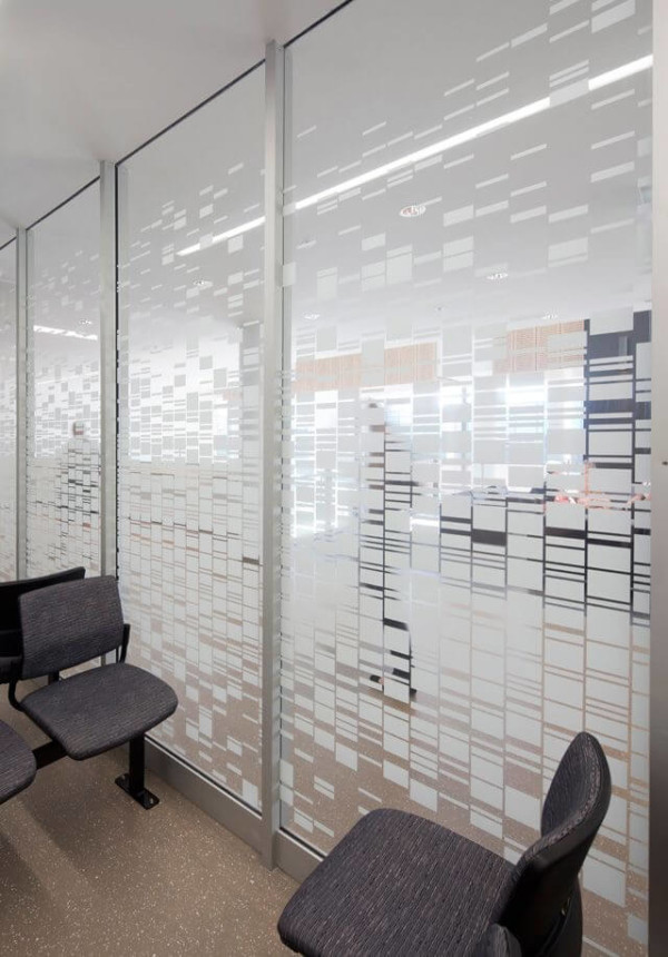 Frosted window film cut (1), frosted, window, film, custom, partial, privacy, waiting, room