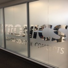 Frosted window film cut (1), privacy, frosted, film, with, logo, cut, away, large