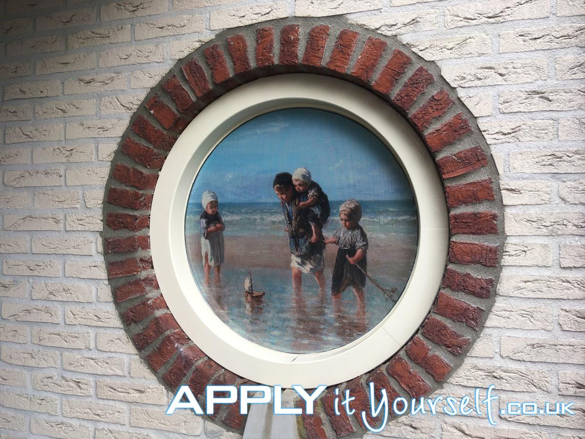 One-way vision, window, round, window film, privacy