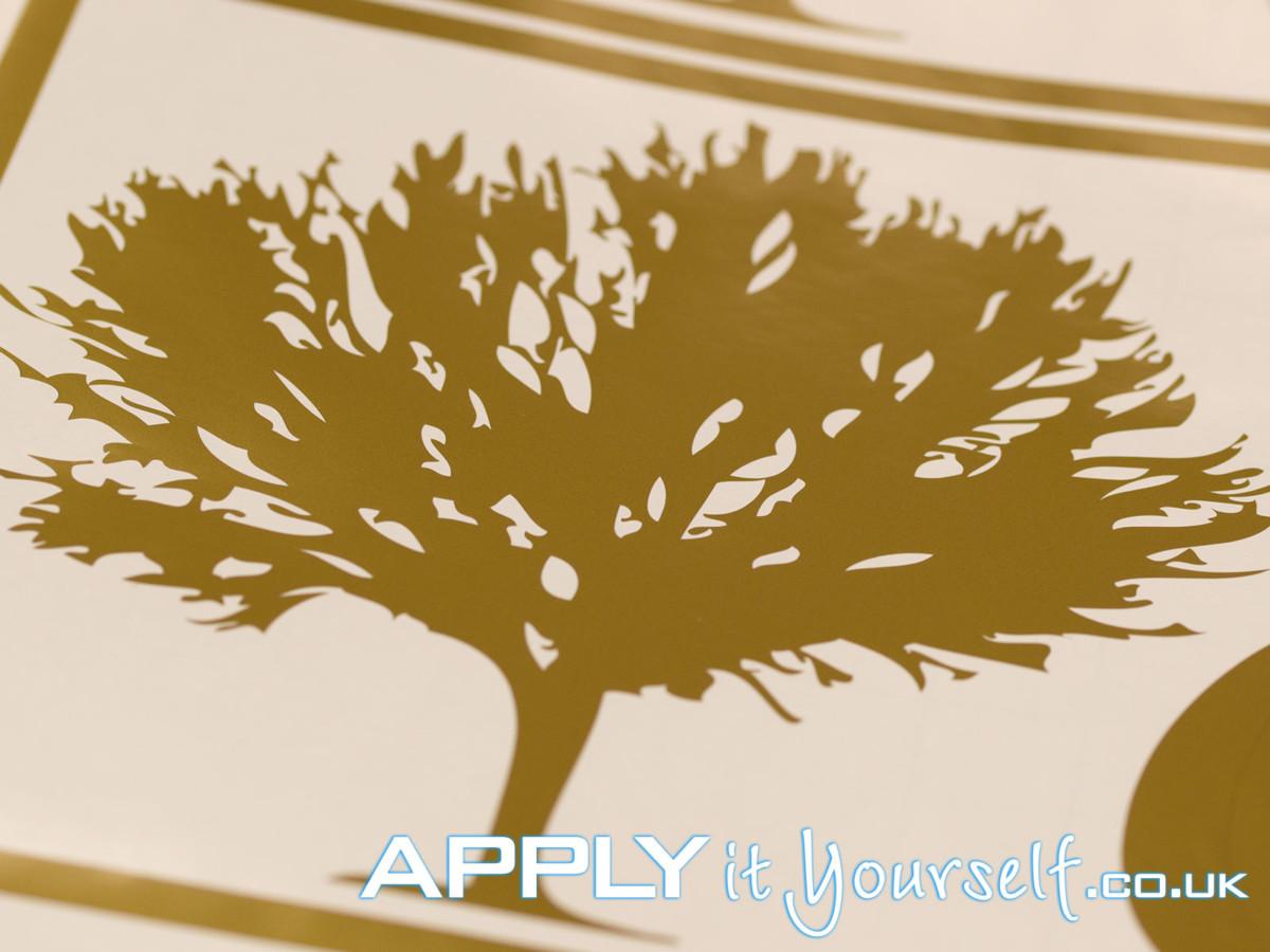 custom, gold, decal, tree, window