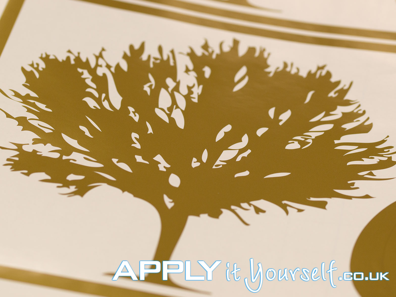 custom, gold, decal, tree, window